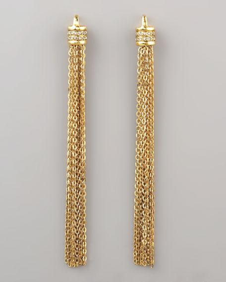 Shoulder-Sweeping Tassel Earrings