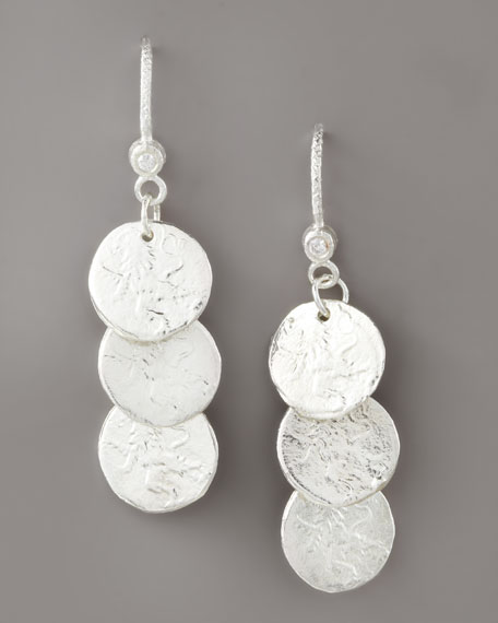 Short Coin Drop Earrings