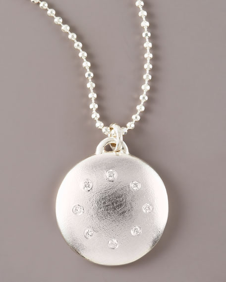 Multi-Diamond Disc Necklace, Large