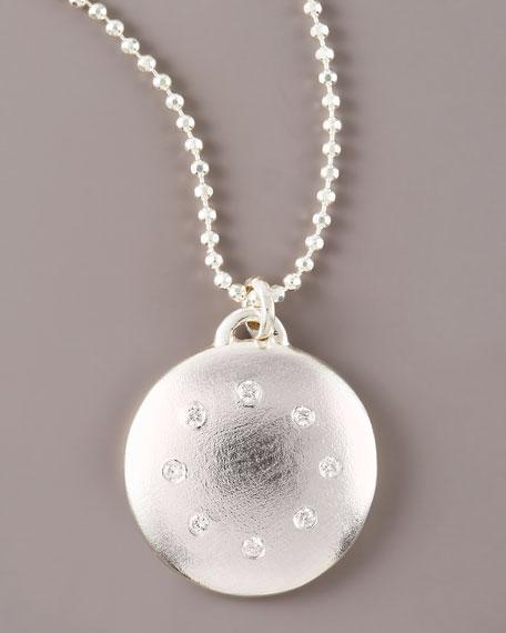 Multi-Diamond Disc Necklace, Large