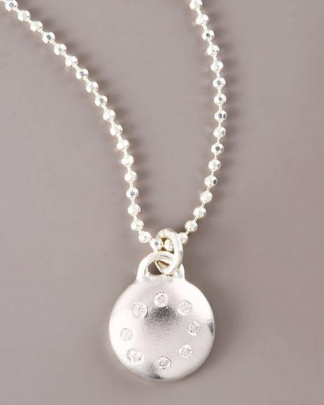Multi-Diamond Disc Necklace, Small