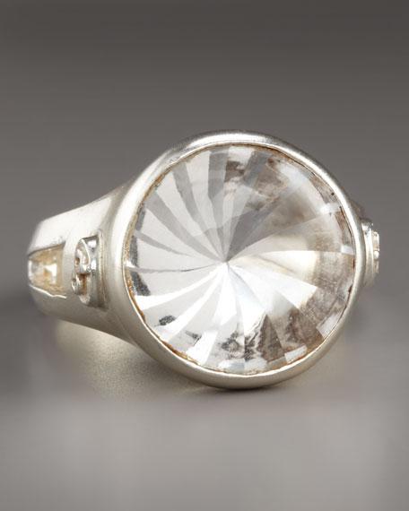 White Topaz Sunburst Ring
