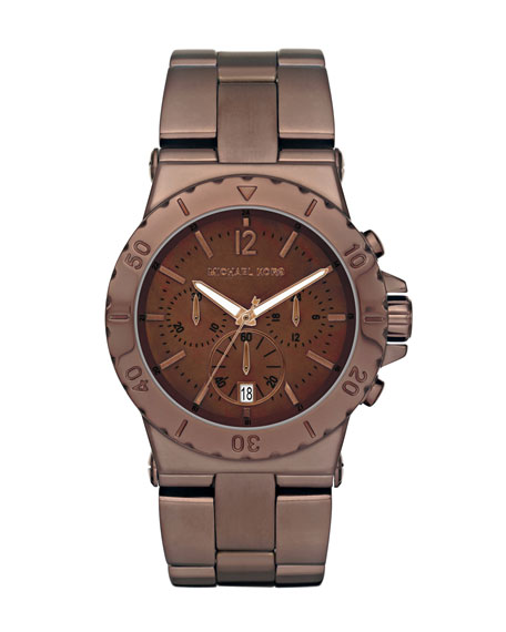Mid-Size Espresso Stainless Steel Dylan Watch