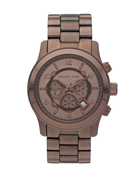 Oversized Runway Watch, Brown