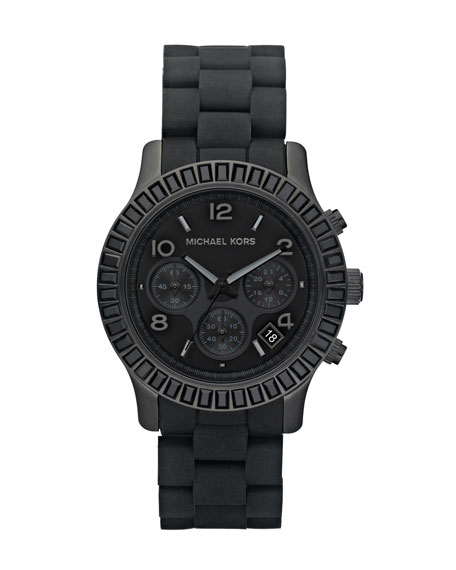 Mid-Sized Silicone-Wrapped Watch