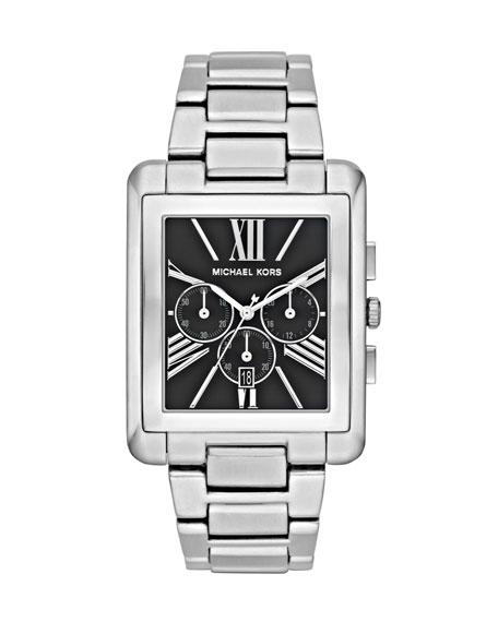 Rectangle-Case Bracelet Watch