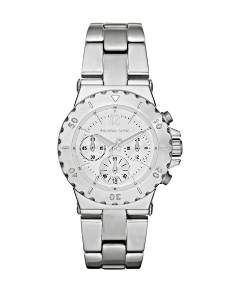 Mini-Size Silver Stainless Steel Dylan Chronograph Watch