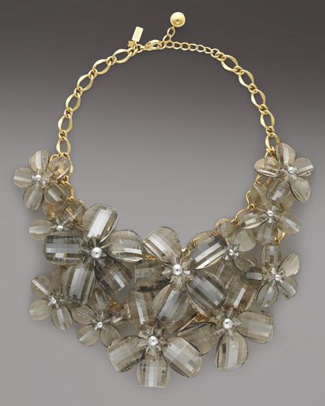 delacorte flower bib necklace