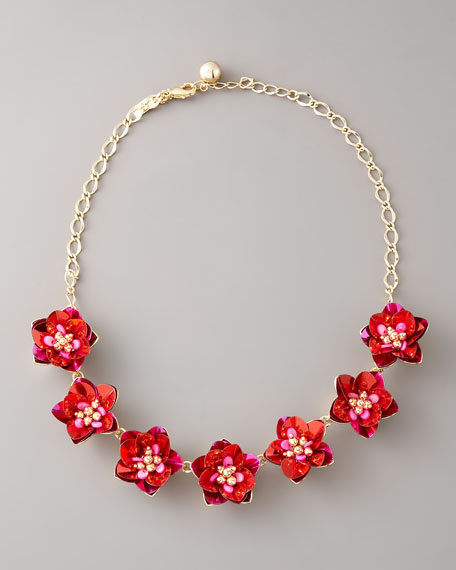 sequined flower necklace
