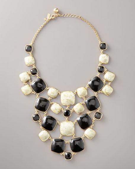 cobblestone bib necklace