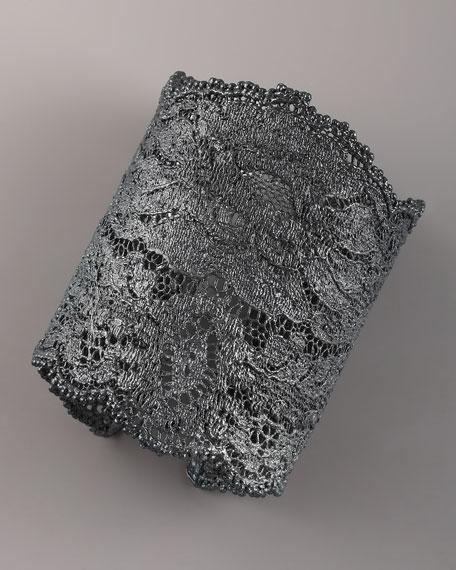 Lace Cuff, Oxidized Silver