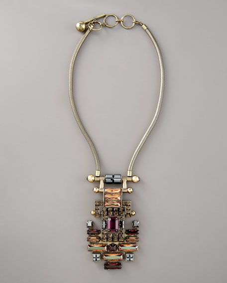 Geometric Crystal Necklace