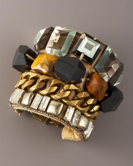 Glass & Chain Cuff