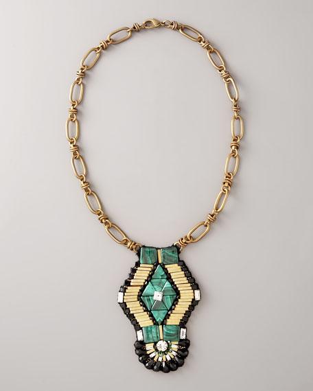 Emerald-Green Pendant Necklace
