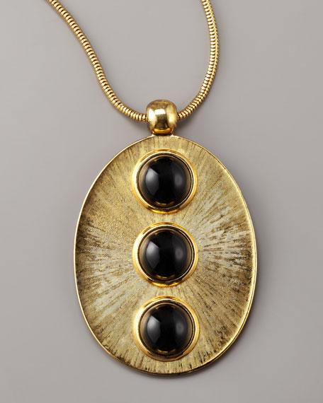 Black Cabochon Necklace