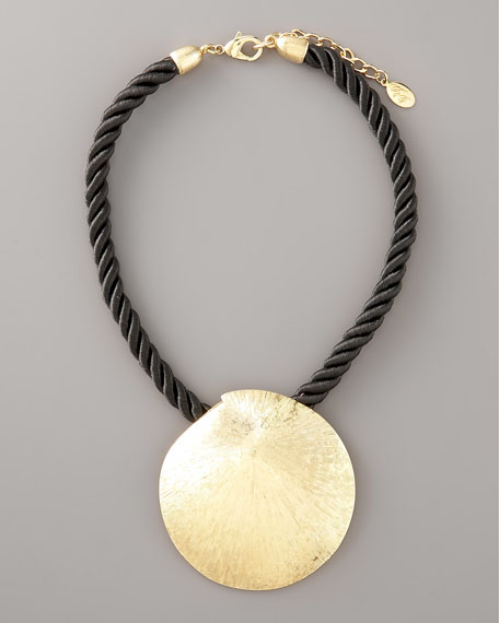 Gold Sand-Dollar Necklace