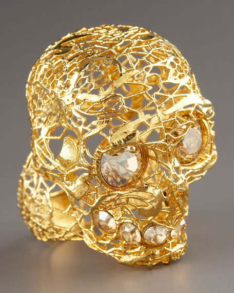 Filigree Skull Ring