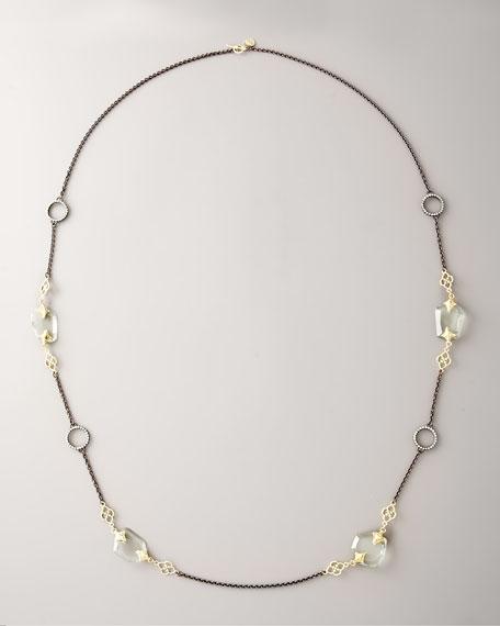 "Green Amethyst Heraldica Necklace, 38""L"