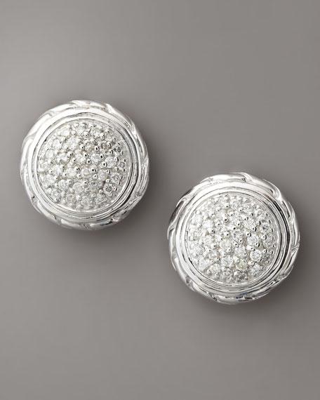 Pave Diamond Circle Studs