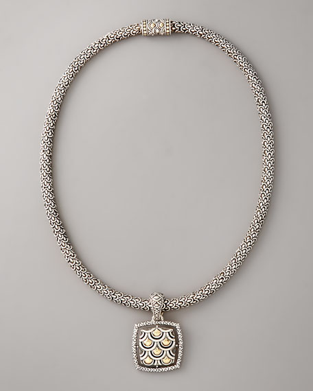 Naga Square-Pendant Necklace