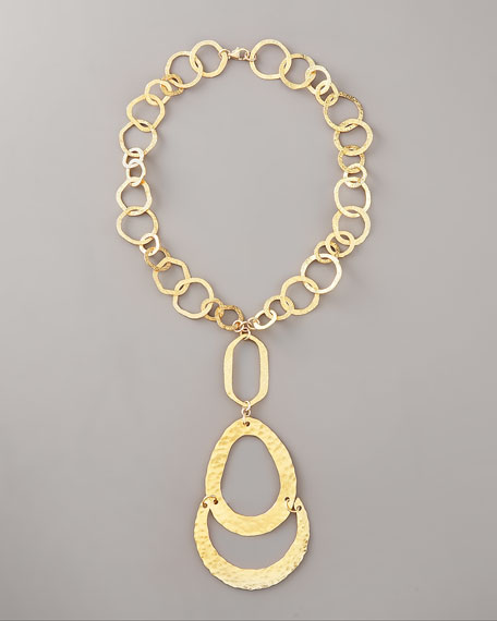 Long Gold-Link Necklace