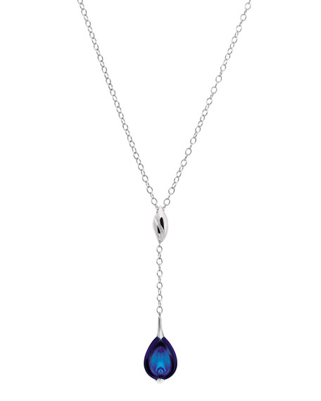 Fleurs De Psydelic Blue Mordore Necklace, Small