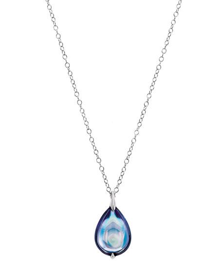 Fleurs De Psydelic Aqua-Blue Necklace, Large