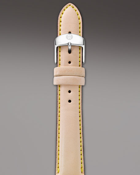 18mm Leather Strap, Natural