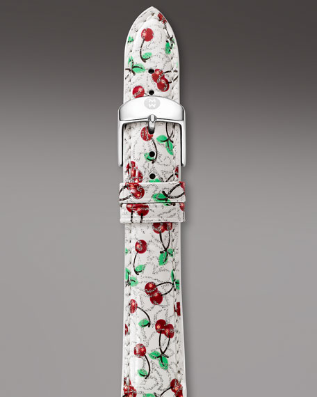 18mm Patent Strap, Cherry Print