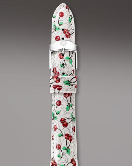 18mm Patent Strap, Cherry Print