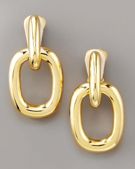 Double-Link Drop Earrings, Clip Backs
