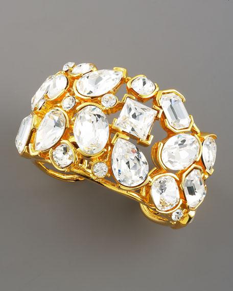 Gold & Crystal Cuff
