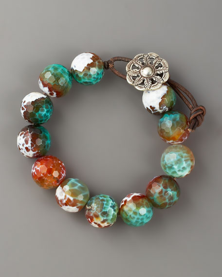 Multi-Agate Bracelet, Large