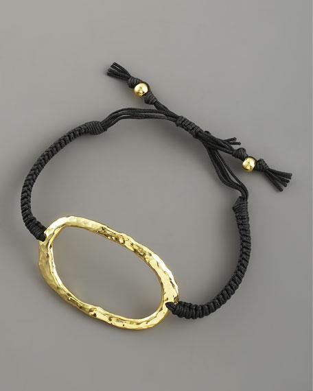 Hammered Gold O-Ring Bracelet