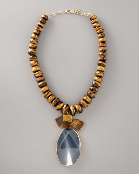 Agate & Tiger's Eye Necklace