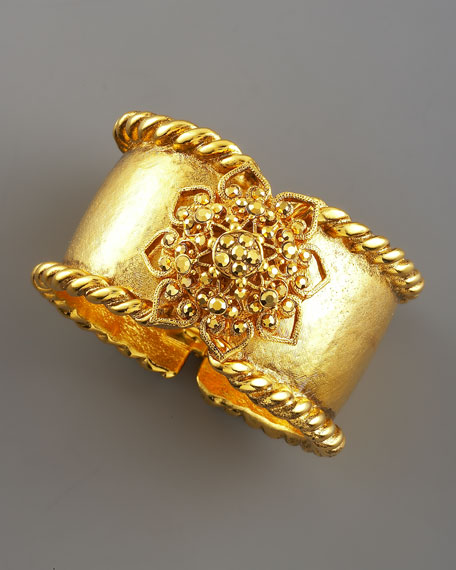 Gold-Plated Filigree Bracelet