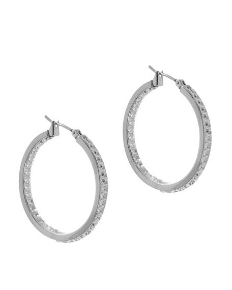 Mini Hoop Earrings, Silver