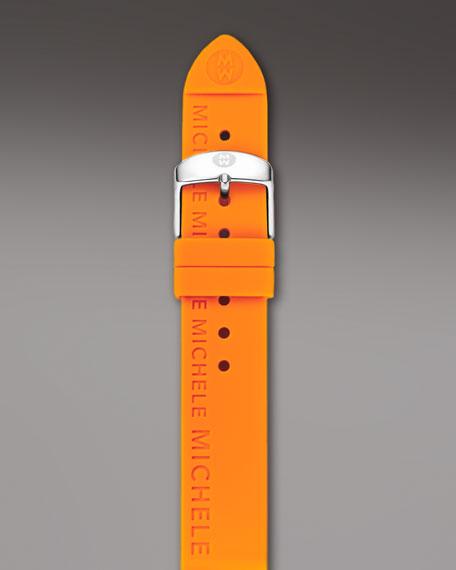 18mm Silicon Strap, Orange