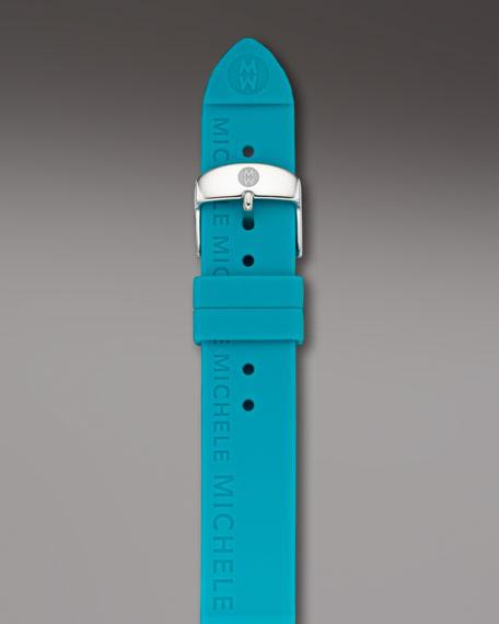 18mm Silicon Strap, Bright Blue