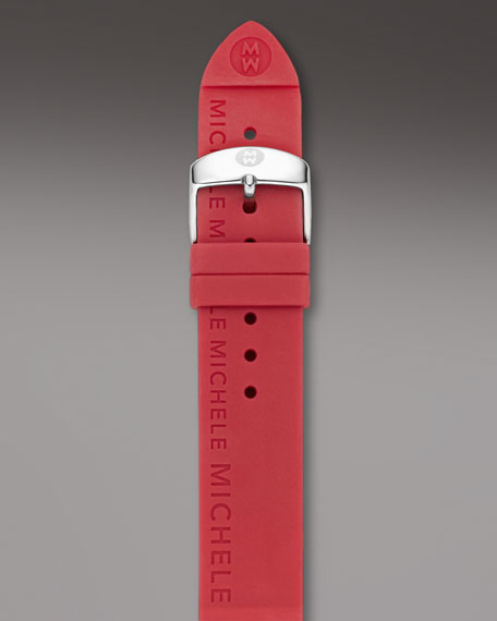 20mm Silicon Strap, Red