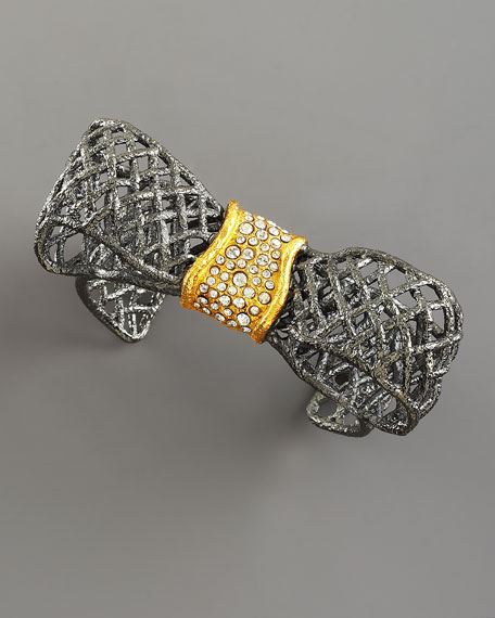 Pave-Accented Bow Cuff