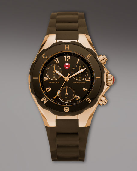 Tahitian Large Jellybean Chronograph, Brown