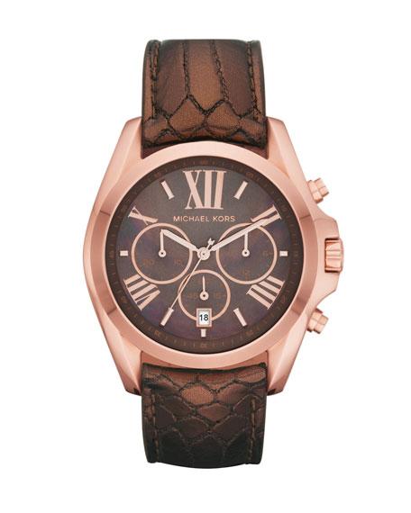 Bradshaw Python-Embossed Chronograph Watch