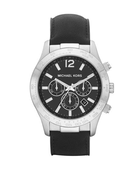 Leather Chronograph Layton Watch