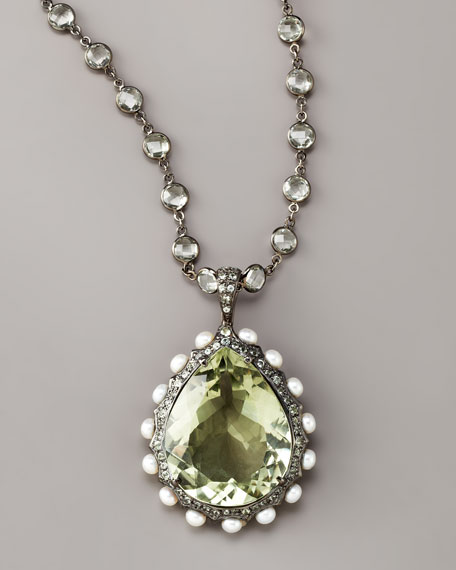 Teardrop Amethyst Pendant Necklace