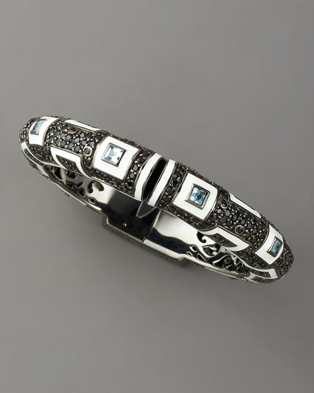 Topaz & Spinel Art Deco Bracelet