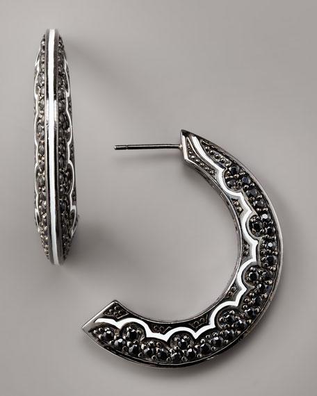 Spinel Half-Moon Earrings