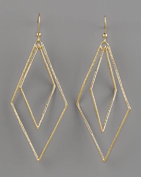 Double Diamond, Diamond-Cut Earrings