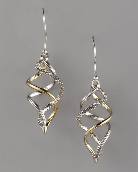 Unlaced Mixed-Metal Earrings