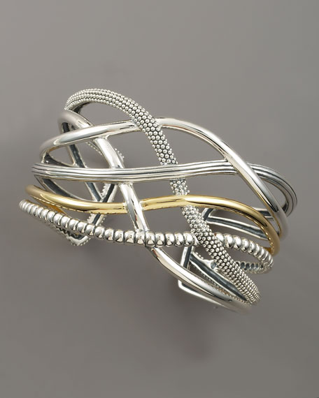 Unlaced Mixed-Metal Cuff